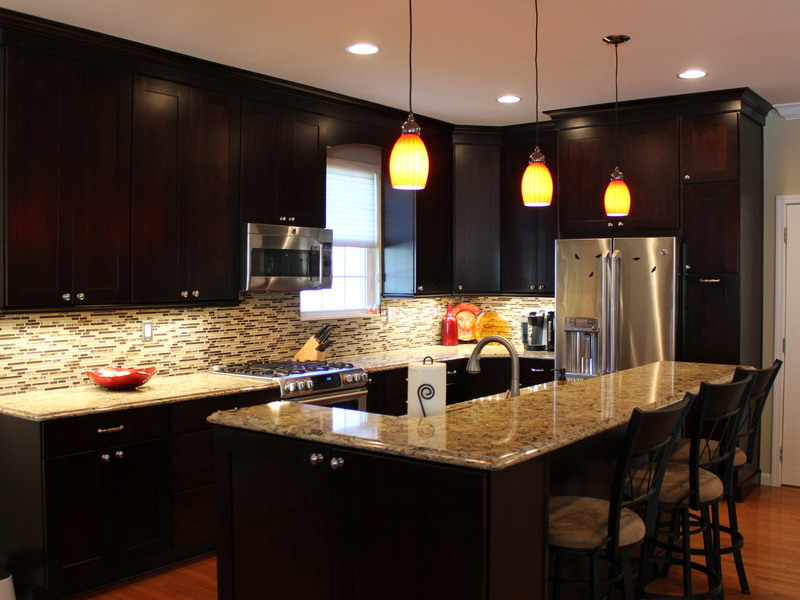 This Brand New Kitchen Remodel In St Louis Utilizes Merillat Masterpiece Cherry Peppercorn Cabinets With Cambria Countertops To Create A Sleek And