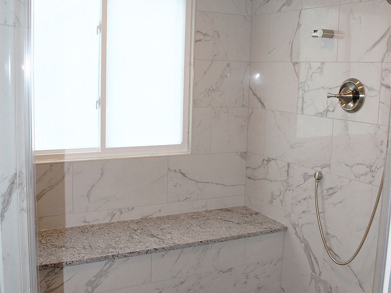 Marble Porcelain Shower Seating